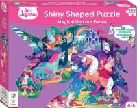 Magical Unicorn Forest Shiny Shaped Puzzle