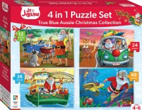 Jr Jigsaw 4-in-1 True Blue Aussie Christmas Collection