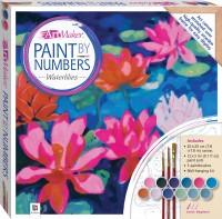 Paint by Numbers Canvas: Waterlilies