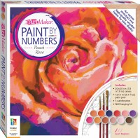 Paint by Numbers Canvas: Peach Rose