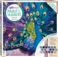 Paint by Numbers Canvas: Peacock Perfection