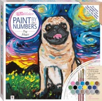 Paint by Numbers Canvas: Pug Magic