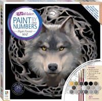 Paint by Numbers Canvas Anne Stokes: Night Forest Wolf
