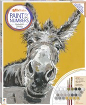 Paint by Numbers Canvas: Delightful Donkey