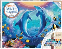 Paint by Numbers Canvas: Playful Dolphins