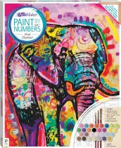 Paint by Numbers Canvas: Vivid Elephant