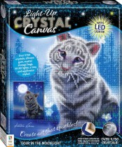 Crystal Creations Light-up Canvas: Tiger in the Moonlight