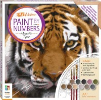 Paint by Numbers Canvas: Majestic Tiger (small)