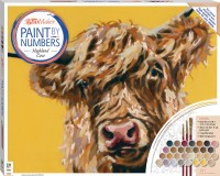 Paint by Numbers Canvas: Highland Cow (large)