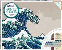 Paint by Numbers Canvas: The Great Wave off Kanagawa (large)