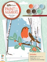 Paint by Numbers Greeting Card: Christmas Robin