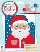 Paint by Numbers Greeting Card: Santa Claus