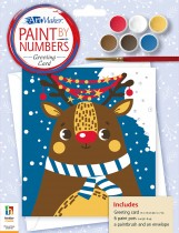 Paint by Numbers Greeting Card: Rudolph the Reindeer
