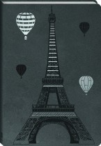 Faux Leather Journal: Balloons Over Paris