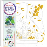 Paint by Numbers Foil Reflections: Morning Monstera