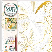 Paint by Numbers Foil Reflections: Jungle Jumble