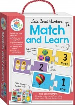 Let's Count Numbers Building Blocks Match and Learn Cards