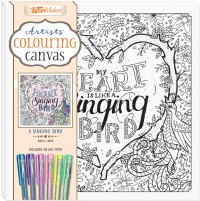 Artists' Colouring Canvas: A Singing Bird with Gel Pens