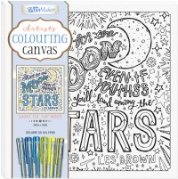 Artists' Colouring Canvas: Shoot for the Moon with Gel Pens