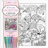 Artists' Colouring Canvas: Fabulous Flamingos with Gel Pens