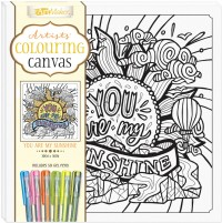 Artists' Colouring Canvas: You Are My Sunshine with Gel Pens