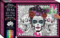 Colour-in Jigsaw with 6 Markers: Day of the Dead