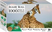 Pair of Giraffes 1000-piece Jigsaw with Mat
