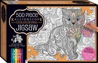 Kaleidoscope Colour-in Jigsaw with 6 Markers: In the Garden