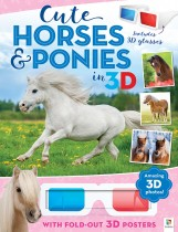 3D Cute Animals Poster Book: Cute Horses and Ponies in 3D