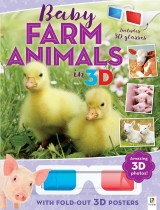 3D Cute Animals Poster Book: Baby Farm Animals in 3D