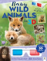 3D Cute Animals Poster Book: Baby Wild Animals in 3D