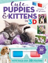 3D Cute Animals Poster Book: Cute Puppies and Kittens in 3D