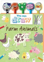 You Can Draw: Farm Animals 5-Pencil and Eraser Set