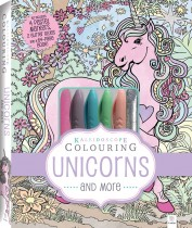 Kaleidoscope Pastel Colouring Kit: Unicorns and More