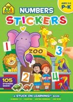 School Zone Numbers Stickers
