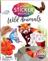 Creative Sticker Mosaics: Wild Animals