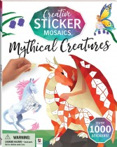 Creative Sticker Mosaics: Mythical Creatures