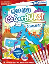 Inkredibles Colour Burst Colouring: Dinosaurs