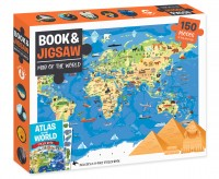 Book and 150-piece Jigsaw: Map of the World