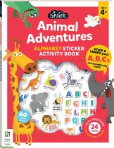 Junior Explorers: Animal Adventures Alphabet Activity Book