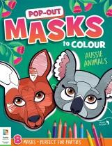 Pop Out Masks to Colour: Aussie Animals