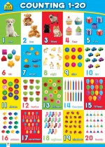 School Zone Wall Chart: Counting 1-20