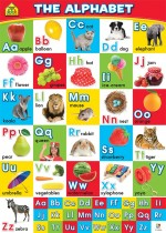 School Zone Wall Chart: The Alphabet