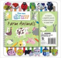 Farm Animals 12 Pencil Eraser Set