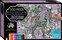 Kaleidoscope Colour-in Jigsaw with Pencils: Through the Fields