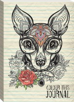 Colour This Journal: Decorated Dog