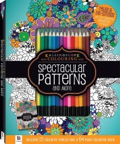Spectacular Patterns Colouring Kit with 15 Pencils