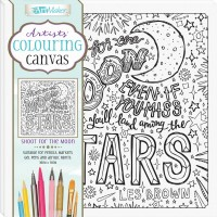 Artists' Colouring Canvas: Shoot for the Moon