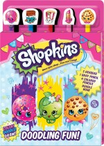 Shopkins Doodling Fun! 5-Pencil and Eraser Set