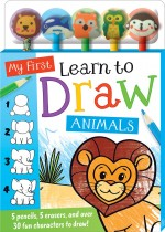 My First Learn to Draw Animals 5-Pencil and Eraser Set